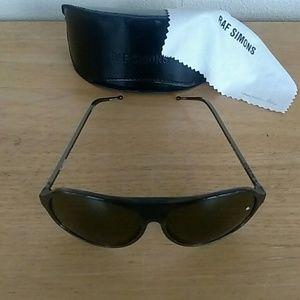 Raf Simons Accessories - Raf Simons Linda Farrow Gallery Sunglasses-Black